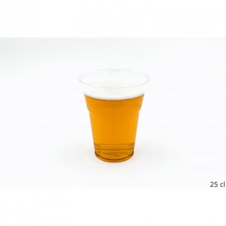 Verre plastique transparent rigide
