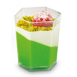 Verrine hexagonale transparente 5cl