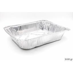 Plat gastro en aluminium GN 1/2 avec couvercle aluminium vendu séparément