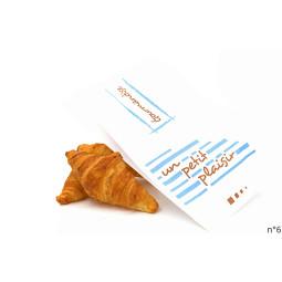 Sacs croissant et viennoiseries décorés pas chers pour boulangerie, à personnaliser sur demande