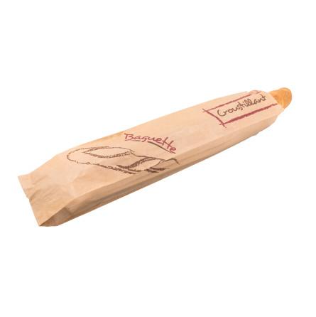 Sac baguette en kraft brun décoré