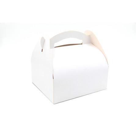 Boîtes pâtissières à poignées blanches