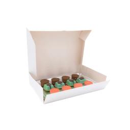 Boîte traiteur en carton blanche