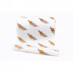 Papier kraft blanc décoré pour emballer le pain en bobine ou feuille