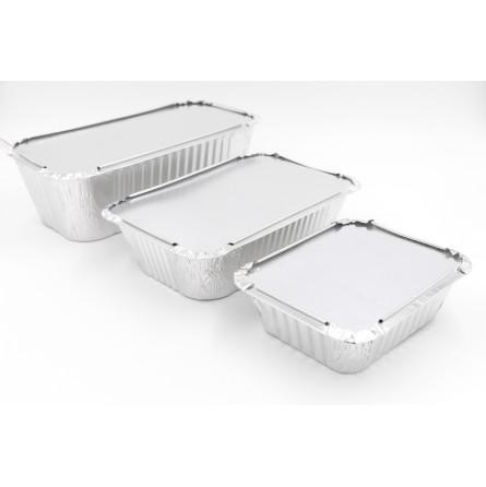 Barquette en aluminium operculable avec couvercle carton vendu séparément