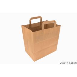 Sac en papier kraft alimentaire pour la vente à emporter (à personnaliser)