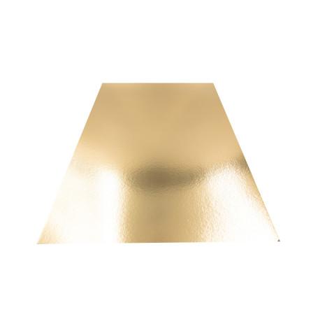 Plaque en carton doré rectangulaire