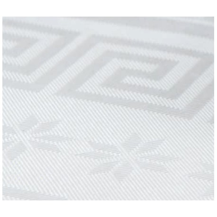 Rouleau de nappe 1,20m x 100m en papier damassé blanc
