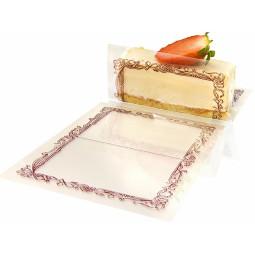 Feuillets décorés pour pâtisseries individuelles et entremets