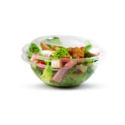 Bol à salade plastique jetable individuel 1 litre et son couvercle (vendu séparément)