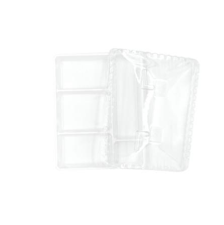Plateau repas 5 compartiments blanc et son couvercle transparent (vendus séparément)