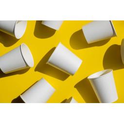 Gobelet en carton blanc recyclable pour boissons chaudes à personnaliser