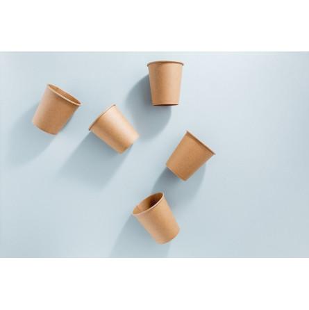 Gobelet en carton brun recyclable pour boissons froides ou chaudes