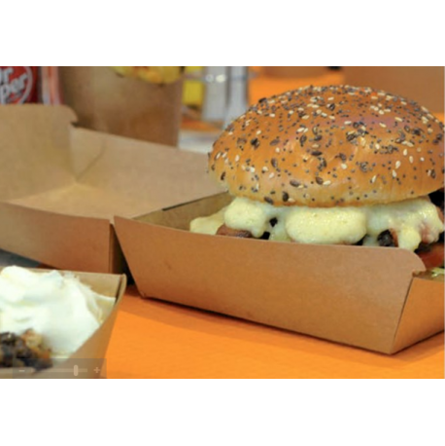 Boites burger et kebab en carton brun