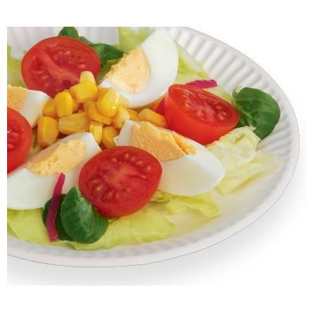 Assiette carton ronde blanche