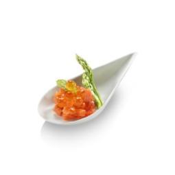 Verrine biodégradable forme goutte blanche en bagasse