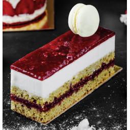 Petit rectangle doré avec languette pour pâtisseries individuelles