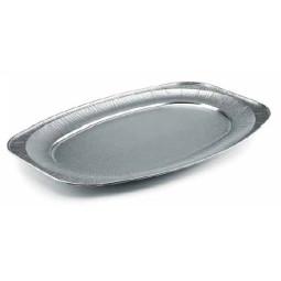 Plateau de présentation en aluminium ovale