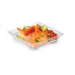 Petit carré plastique pour une bouchée