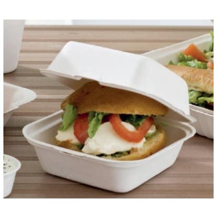Boite burger en bagasse biodégradable