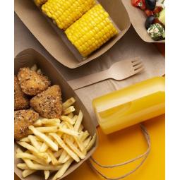 Barquette à frites en carton brun - 2 tailles