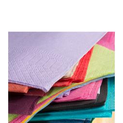Serviettes en papier ouate 38 x 38cm 2 épaisseurs - différents coloris