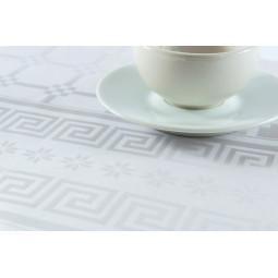Rouleau de nappe 1,20m x 10m papier damassé blanc