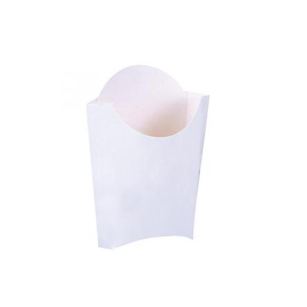 Pochette à frites en carton blanches - 2 tailles