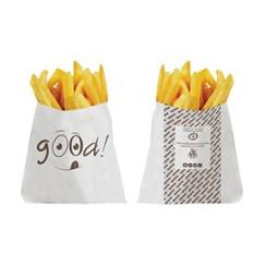 Sachet à frites blanc imprimé GOOD