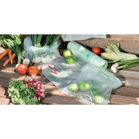 Sac plastique biodégradable en rouleau compostable - 2 tailles