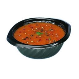 Bol à soupe blanc ou noir scellable et micro-ondable - 2 contenances
