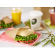 Sachet brun ouvert sur 2 côtés ingraissable pour kebab, sandwichs, burgers ...