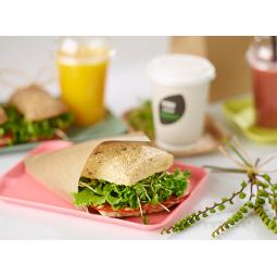 Sachet brun ouvert sur 2 côtés ingraissable pour sandwichs, burgers ...