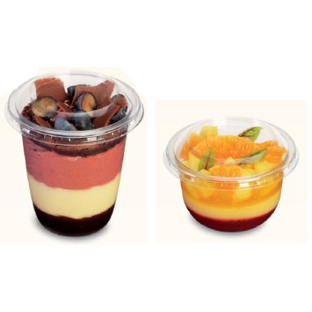 Pot à dessert deli et son couvercle - 2 tailles