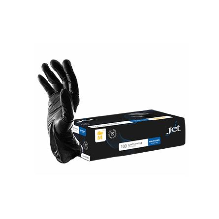 Gant vinyle stretch noir non poudré - 3 tailles disponibles